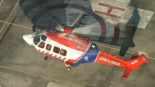 The man was airlifted to The Alfred Hospital with serious injuries. (9NEWS)
