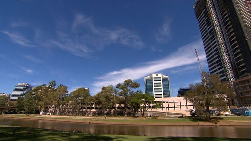 The planned building site along the Parramatta River. (9NEWS)