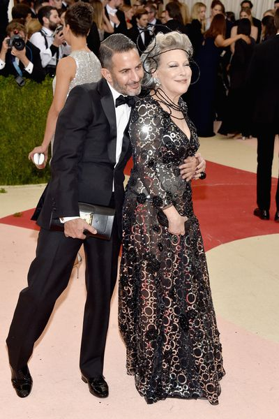 Marc Jacobs and Bette Midler, Met Gala 2016