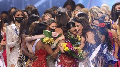 Miss Mexico Andrea Meza is crowned Miss Universe onstage at the Seminole Hard Rock Hotel and Casino on May 16 in Hollywood, Florida.