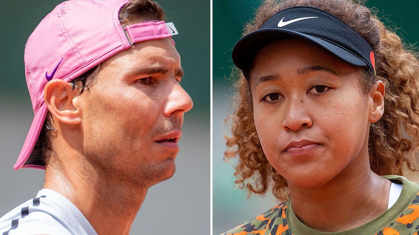 Rafael Nadal and Naomi Osaka