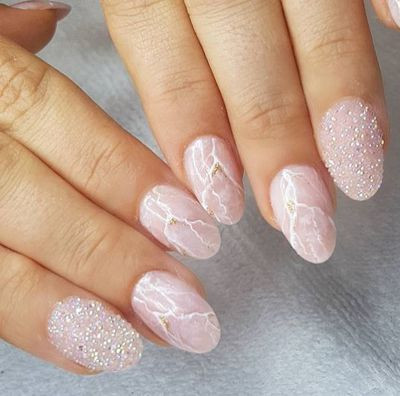 """ Rose Quartz wedding Claws!"" captioned Sydney -based nail artist, Miss Betty Rose."