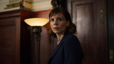 Katja Herbers on the TV series Evil, now streaming on Stan.