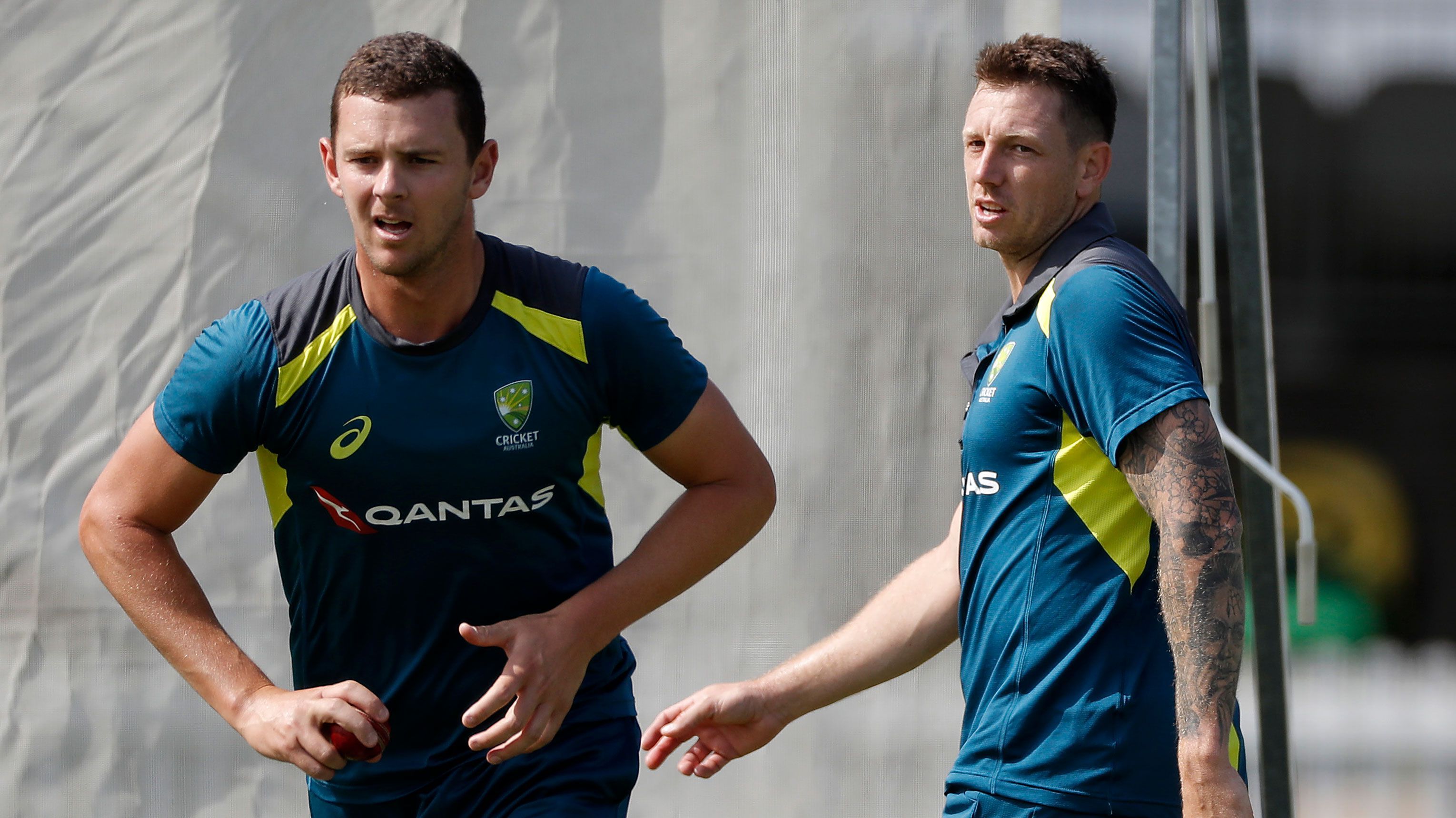 Josh Hazlewood and James Pattinson.