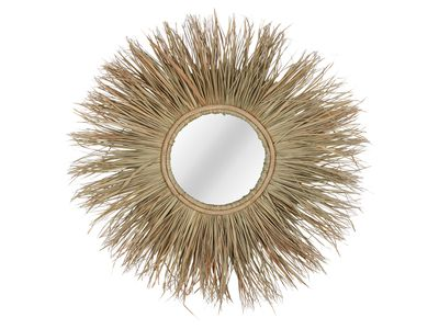 Natural Uli Grass Mirror — Temple and Webster