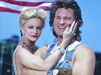 Goldie Hawn and Kurt Russell in 1987.