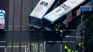 Two buses collided on Anzac Parade in Kensington, Sydney this afternoon.