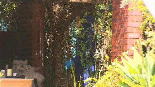 Mr Fisher-Turner was buried in the backyard of the Parmelia property. Picture: 9NEWS