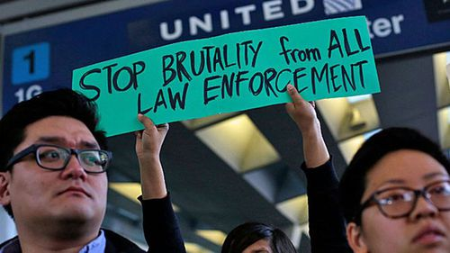 Demonstrations against the airline were even held at Chicago O'Hare Airport and the airline's value plummeted on the stock market.