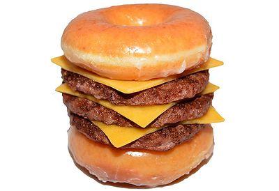 Krispy Kreme Triple Cheeseburger