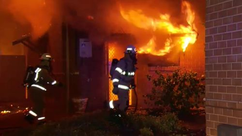 A fire has torn through a townhouse in Adelaide. (9NEWS)