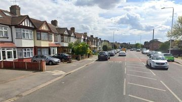 The road in Ilford, east London, where a murder investigation is underway following the deaths of a baby girl and young boy.