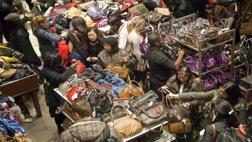 Black Friday sales are in store and online, while Cyber Monday is online only (AAP)