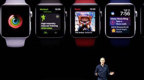 The new Series 3 Apple Watch. (AAP)