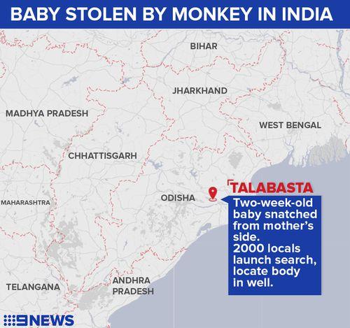 Talabasta is located in Orissa state. (9NEWS)