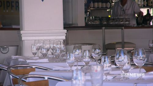 Restaurants outside of key hotspots are being left with a lot of empty tables. (9NEWS)