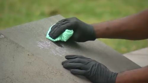 The memorial has since been cleaned and restored to its original state. (9NEWS)