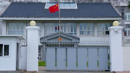 In recent years China's Pacific policy has seen it appeal to penniless South Pacific nations by investing in infrastructure projects under the guise of aid. Picture: 60 Minutes