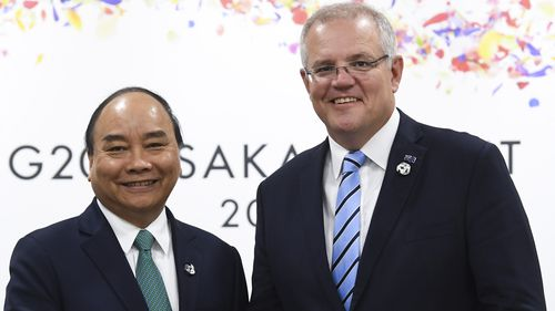 Scott Morrison and Prime Minister of Vietnam Nguyen Xuan Phuc will discuss trade, security and the environment when they meet in Hanoi.