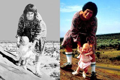 Left: Lindy Chamberlain / Right: Meryl Streep