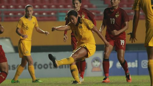 The teenager will now join the Australian women's national football team in the USA for this year's Tournament of Nations. Picture: Supplied.