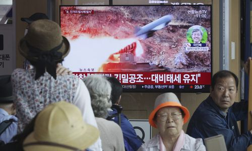 North Korea fired several unidentified short-range projectiles into the sea off its eastern coast, the South Korean Joint Chiefs of Staff said, a likely sign of Pyongyang's growing frustration at stalled diplomatic talks with Washington meant to provide coveted sanctions relief in return for nuclear disarmament.