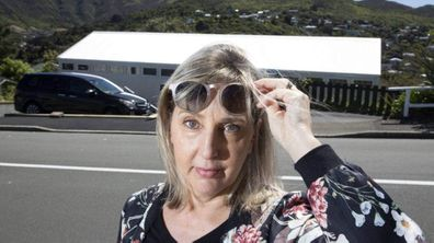 Luanne Cockburn says the glare from her neighbour's zincalume roof in Wellington's Ngaio can cause migraines.