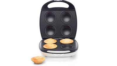 "<p>Give dad the chance to master his very own version of the mini footy pie, and help him taste them too.</p> <p>- <a href=""http://www.kmart.com.au/product/pie-maker/912041"" target=""_top"">Pie Maker</a>, $29 from Kmart</p>"