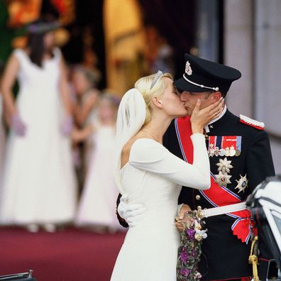 The Wedding Of Crown Prince Haakon Of Norway & Mette-Marit In Oslo in August 2001