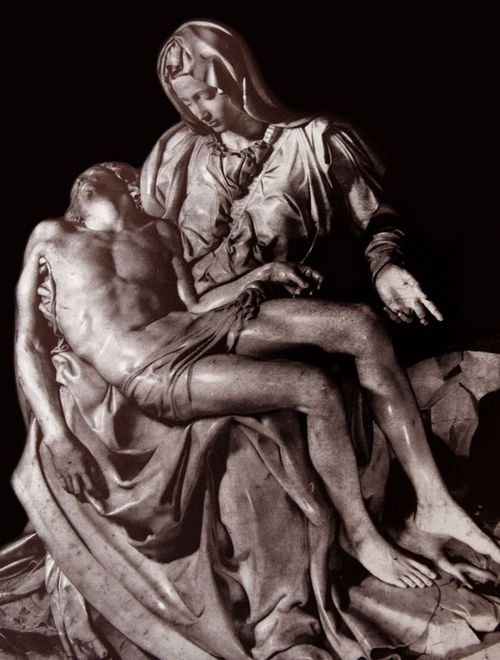 Michelangelo's Pieta has inspired many artworks over the centuries.