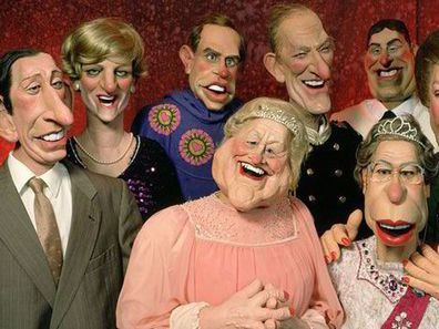 The royal family portrayed on 'Spitting Image'