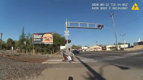 Police Officer Saves Man in Wheelchair From Oncoming Train in Lodi, California
