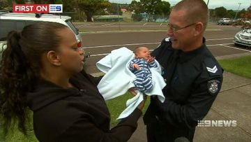 VIDEO: Newborn baby reunited with the officer who brought him into the world