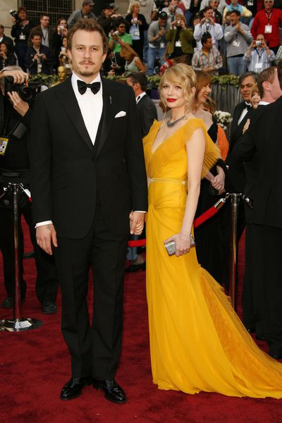 Heath Ledger and Michelle Williams inVera Wang at the 2006 Academy Awards