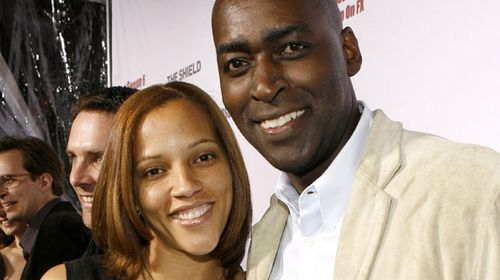 Michael Jace with his wife April, who police claim he murdered. (Getty)