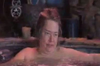Look away, look away! Watch the over-50s jacuzzi moment next, if you dare ...