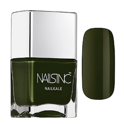 "<a href=""http://www.sephora.com/nailkale-nail-polish-P388615?skuId=1634260&icid2=products%20grid:p388615"" target=""_blank"" draggable=""false"">Nails Inc Nailkale Nail Polish in Forest Green, $15.00</a>"