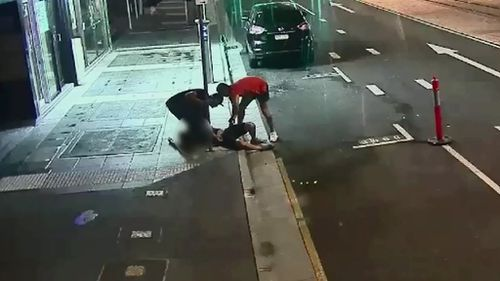 The men searched their victim's pockets. (Queensland Police Service)