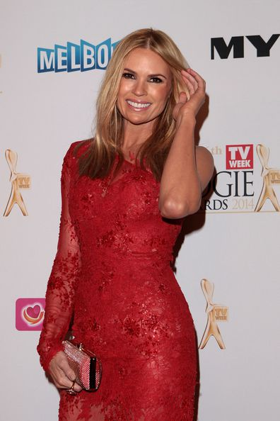 At the 2014 Logies in Melbourne.