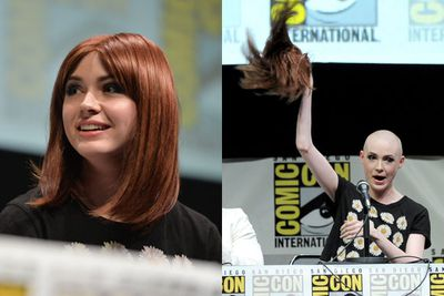 Move over <b>Sinead O'Connor</b>! <i>Doctor Who</i> star Karen Gillan looked hot showing off her shaved head for her role as Nebula in <i>Guardians of the Galaxy</i>.<br/><br/>Images: Getty
