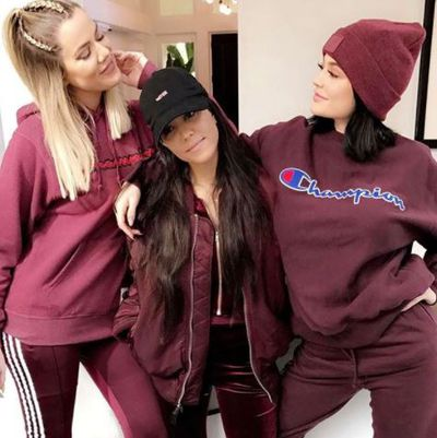 Khloe and Kourtney Kardashian with little sister Kylie Jenner