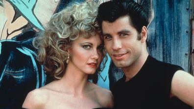 Olivia Newton-John and John Travolta star in Grease.