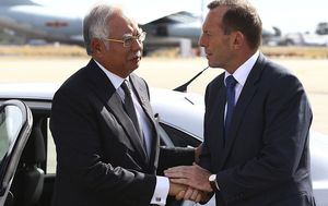 Tony Abbott's MH370 claim sparks response from former Malaysian prime minister Najib Razak