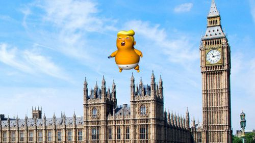 """The mayor of London has given protesters permission to fly the """"Trump baby"""" blimp when US President Donald Trump visits next week. Picture: Trump Baby UK"""