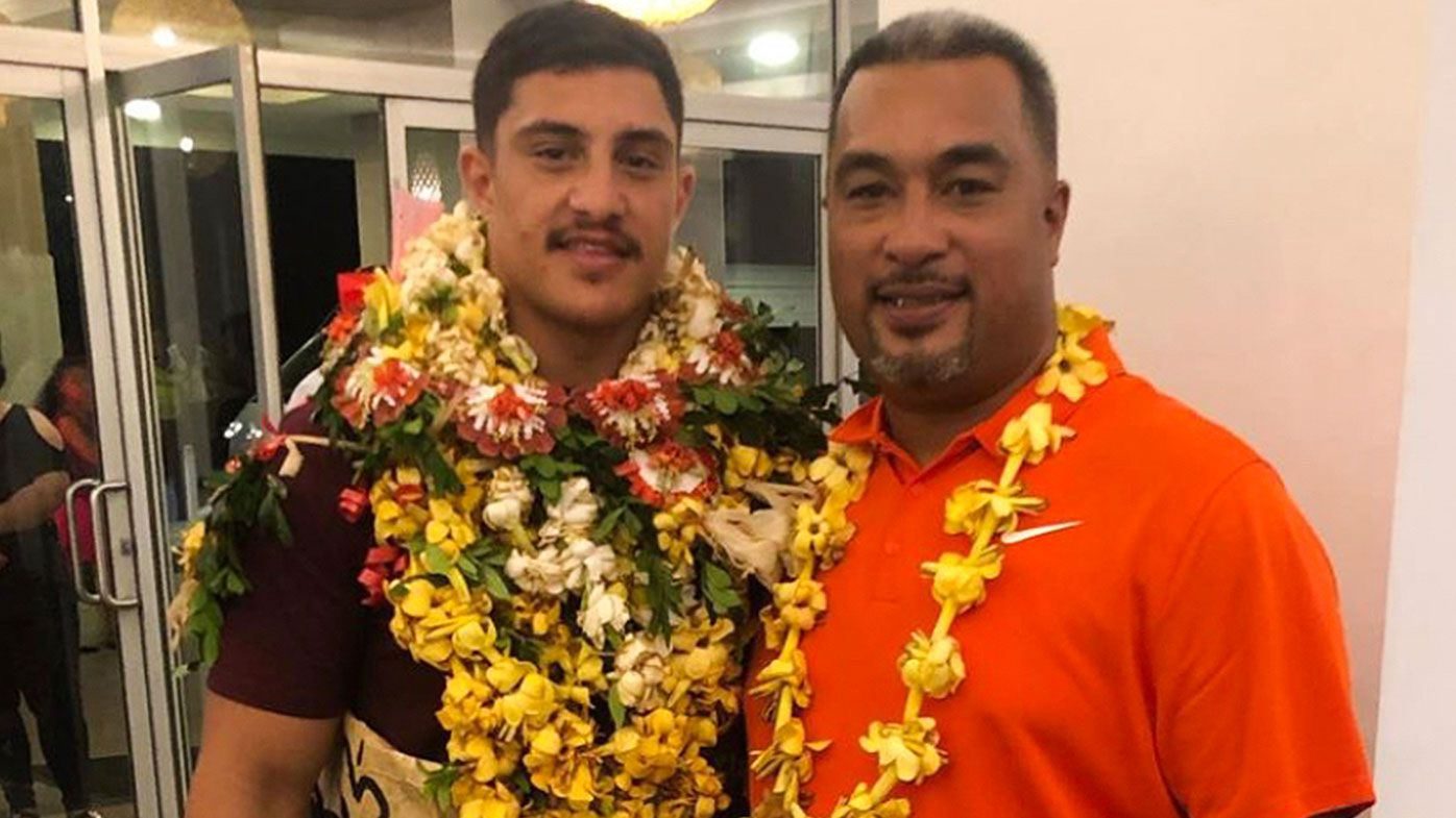 EXCLUSIVE: Broncos star Kotoni Staggs reveals 'special' moment he first met his dad