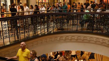 People in Queen Victoria Building during the Boxing Day sales, Sydney, NSW. 26th December, 2019