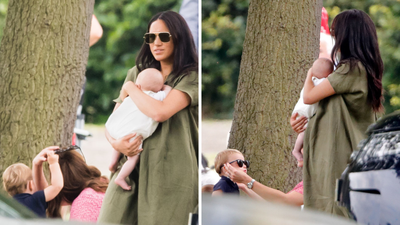 Prince Louis steals his mum Kate's sunglasses, July 2019