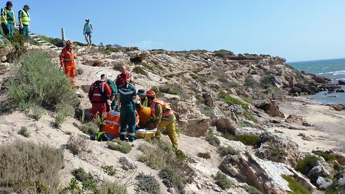 'Wonder dog' saves woman after she fell along South Australia cliff