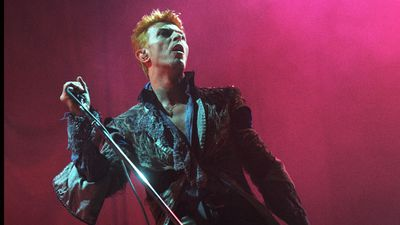 David Bowie performs on stage at Ahoy, Rotterdam, Netherlands, 1996. (Redferns)