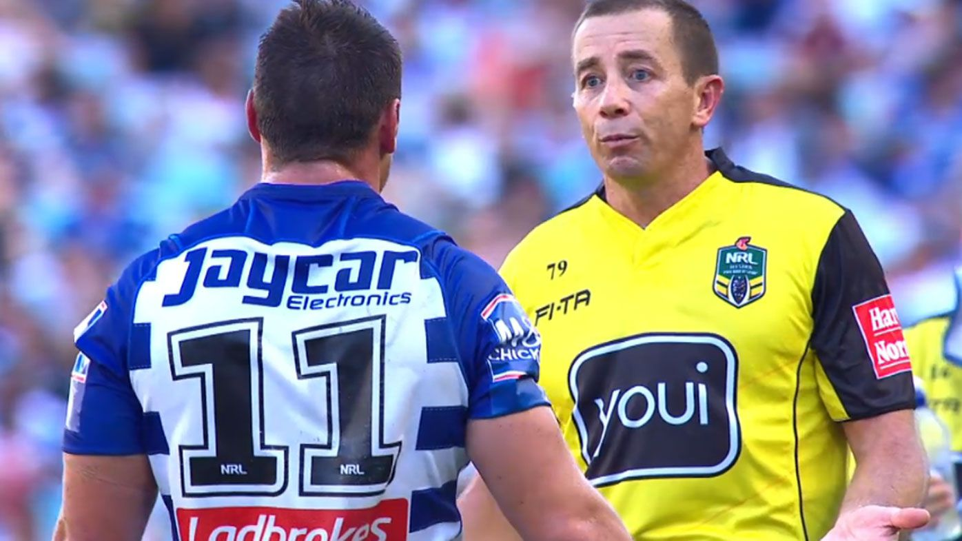 NRL news: Referee Cummins apologises to Bulldogs skipper for mistake leading to try